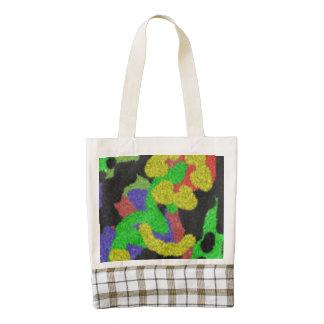 Random chaotic pattern zazzle HEART tote bag