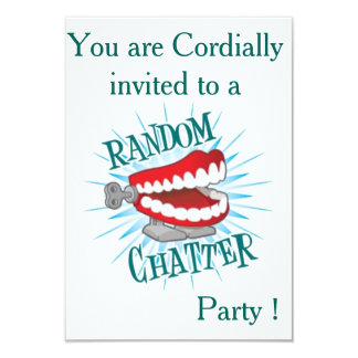 Random Chatter Party 3.5x5 Paper Invitation Card