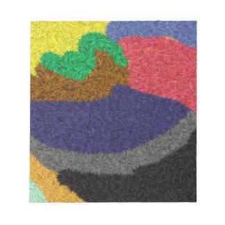 Random colored pattern notepad