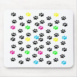 Random Colorful Cat Paws Mousepad