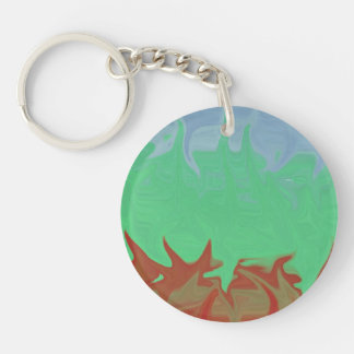 Random colorful pattern keychain