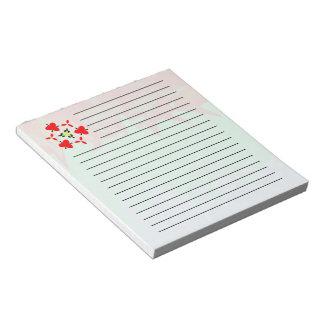 Random colorful pattern notepad