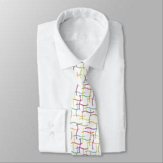 Random Colourful Lines Tie