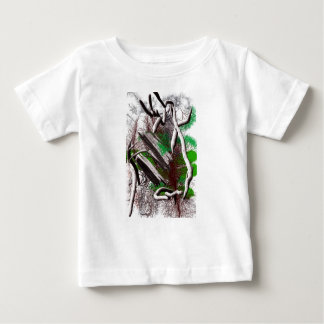 Random computer drawing of branches wood baby T-Shirt