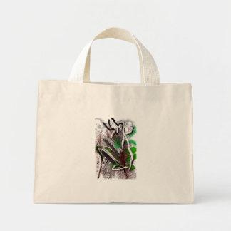 Random computer drawing of branches wood mini tote bag