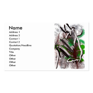 Random computer drawing of branches wood business cards