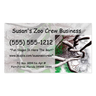 Random computer drawing of branches wood business card