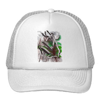 Random computer drawing of branches wood trucker hat