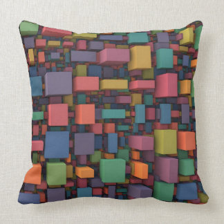 Random Cubes (3-D Pattern) Throw Pillow
