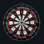 "Random Decision Maker Dartboard With Darts<br><div class=""desc"">Why waste precious time thinking through your decisions? NOW YOU DON"