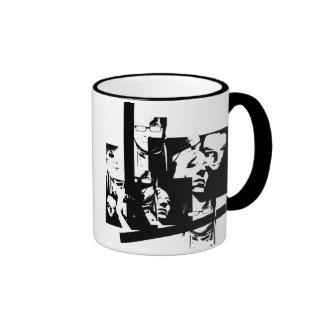 random faces ringer coffee mug
