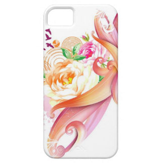 RANDOM FANTASY COLLAGE Pink Rose Vector SWIRLS BAC iPhone 5 Cover