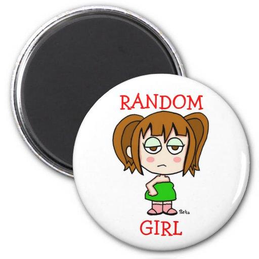 Random Girl Fridge Magnets