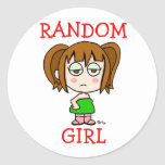 Random Girl Sticker