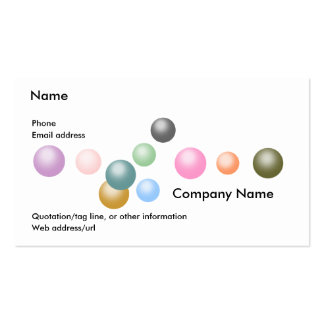 Random Graphics:  Pearls Business Card