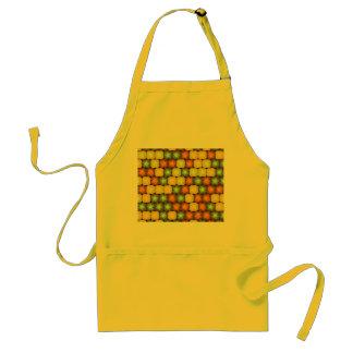 Random hibiscus pattern adult apron