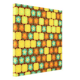 Random hibiscus pattern canvas print