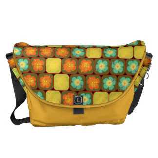 Random hibiscus pattern courier bag
