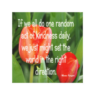 Random Kindness Canvas Print