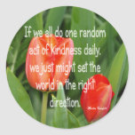 Random Kindness Round Sticker