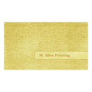Random Letters Double-Sided Standard Business Cards (Pack Of 100)