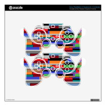 Random Lines Decal For PS3 Controller
