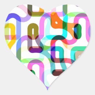 Random lines heart sticker