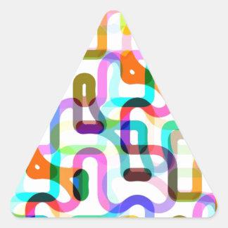 Random lines triangle sticker