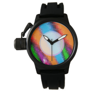 Random Multi Coloured Abstract Watch