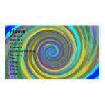 Random multicolored swirling vortex tiled Double-Sided standard business cards (Pack of 100)