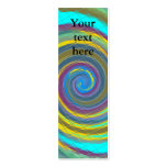 Random multicolored swirling vortex tiled Double-Sided mini business cards (Pack of 20)