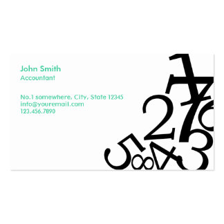 Random Numbers Accounting Business Card