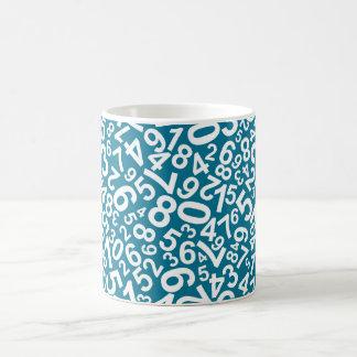 Random Numbers Pattern Coffee Mug