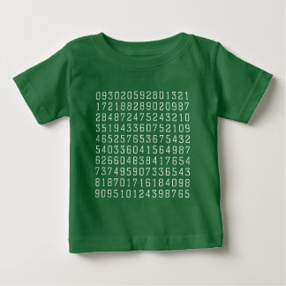 Random Numbers - White on Dark Baby T-Shirt