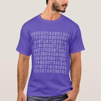 Random Numbers - White on Dark T-Shirt