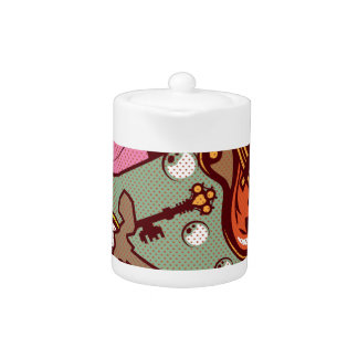 Random Objects Abstract vector background fine art Teapot