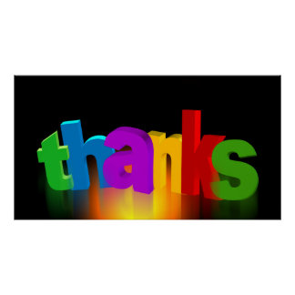 RANDOM OVERVIEW THANKS THANK-YOU THANKFUL POSTER