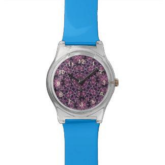 random pattern purple watch