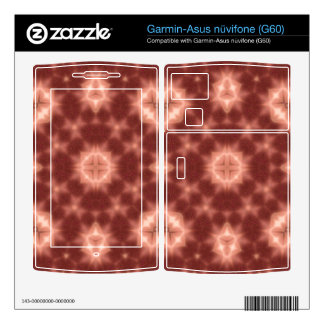 random pattern red garmin asus nuvifone skins