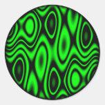 Random Planets Round Stickers