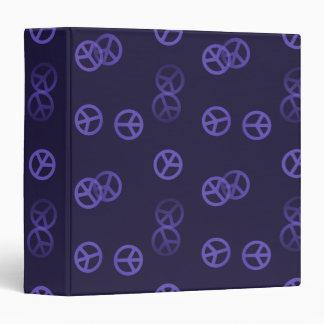 Random Purple Peace Sign Pattern Binder