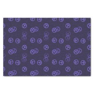 Random Purple Peace Sign Pattern Tissue Paper