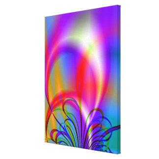 Random Rainbow Swirls Canvas Print