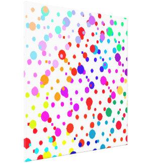 Random Rainbow Wrapped Canvas