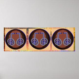 RANDOM Reiki  Karuna Symbols   Decorative Art Poster