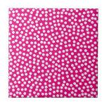 Random Scattered Whimsical Polka Dot Pattern Small Square Tile