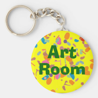 Random Shapes Art Room Keychain