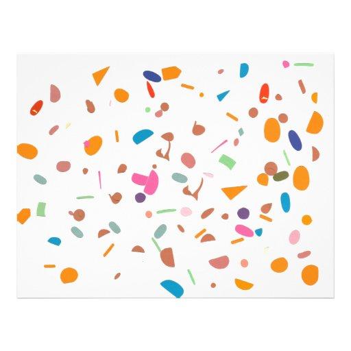 Random Shapes Scrapbooking Paper Letterhead
