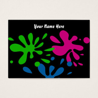 Random Splats, Your Name Here Business Card
