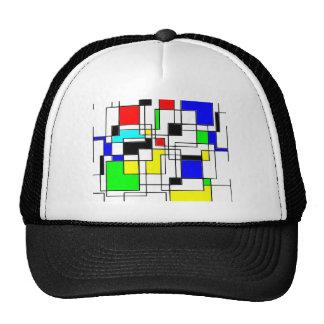 Random Squares Homage To Mondrian Trucker Hat